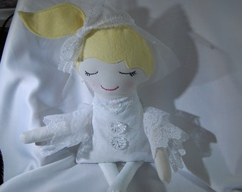 Handmade doll, cloth doll, Darling Bride Doll, girl doll, bridal doll