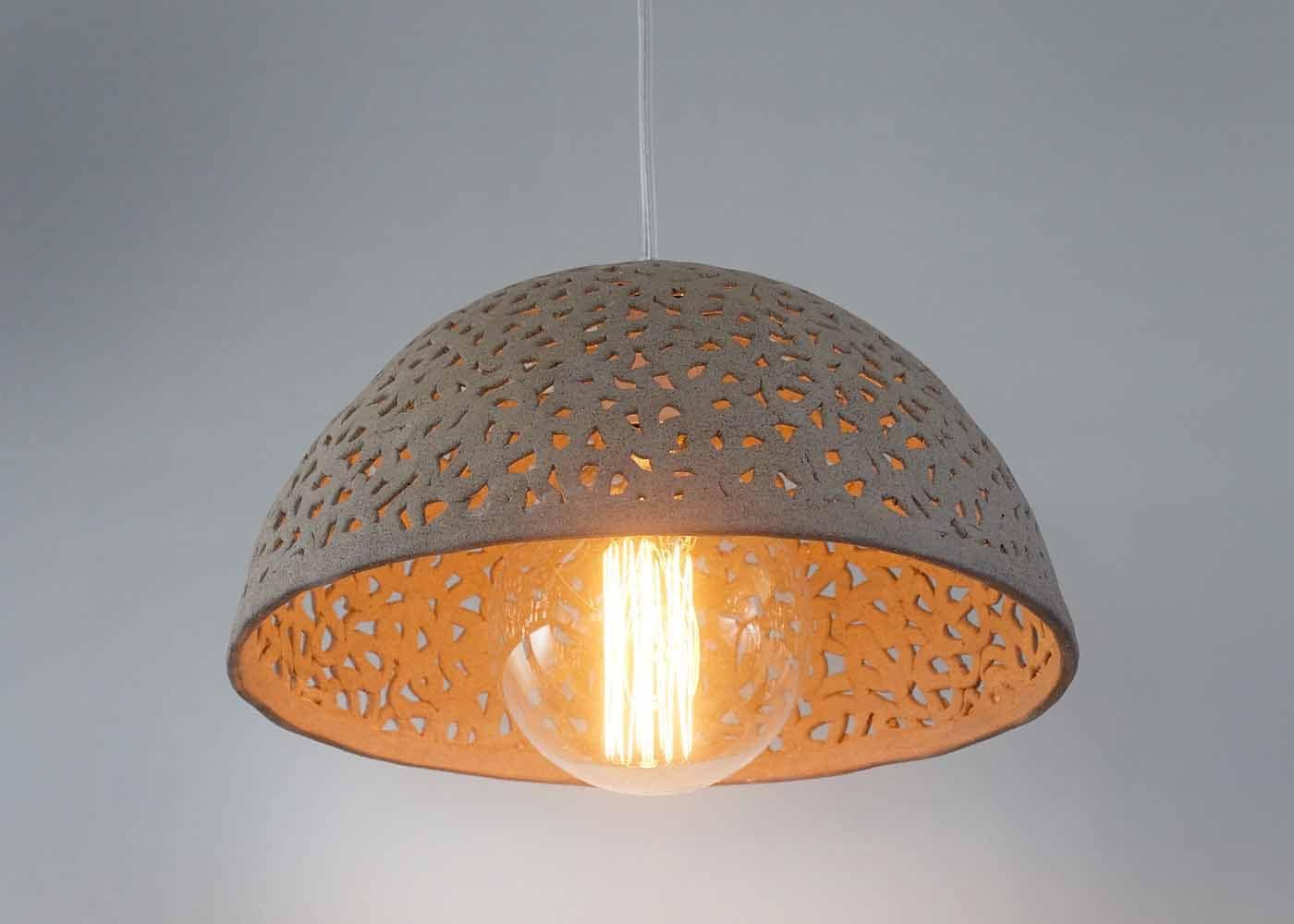 Ceramic lamp shade dome pendant light pendant lighting zoom arubaitofo Choice Image