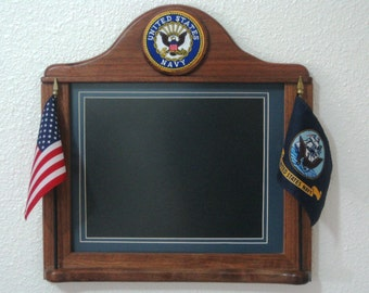 Custom Crafted NAVY  PICTURE FRAMES