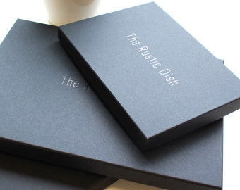 Black presentation box, packed with luxury branded tissue paper
