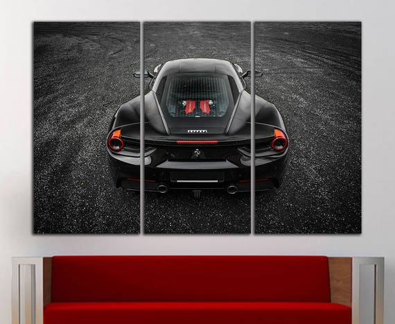 Ferrari wall art canvas Ferrari print Ferrari wall decor Car