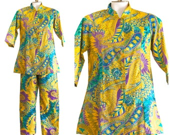 1960s two piece psychedelic outfit