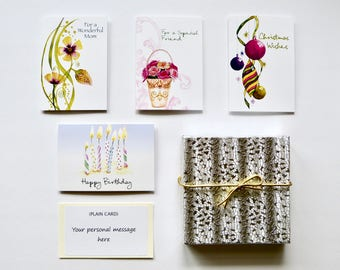 Gift Box with Stretch Bow and/or Note Card