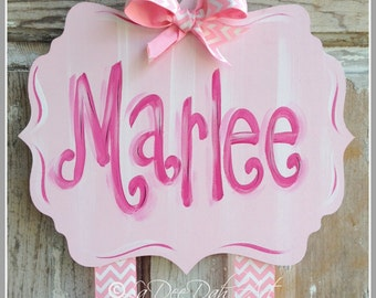 Hair Bow Holder, Hand-Painted Personilazation, Monogram Bow Holder, Clip Holder, Bow Organizer, Bow Holder, Personalized Bow Holder