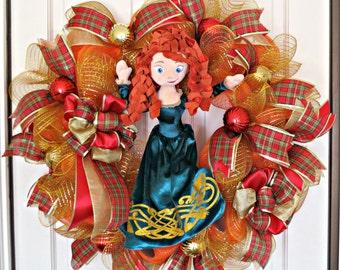 Merida Wreath, Brave Merida Wreath, Character Wreath