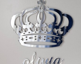Princess Crown, Royal Crown With Your Name, Personalized Crown, Set Of  Royal Crown