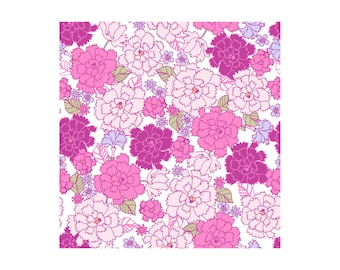 Garden Delights 4GSE-7 Pink/White by In The Beginning Cotton Fabric Yardage