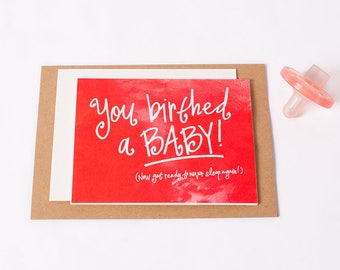 Greeting Card: Birthed Baby