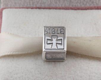 Bible Book Charm 925 Sterling silver fit Pandora bracelet