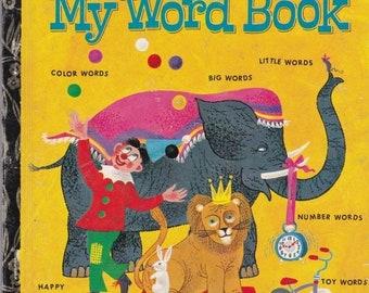 ON SALE My Word Book -  Vintage Little Golden Book - 1972 Australian edition