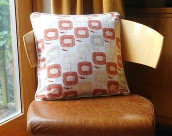 Retro style geometric floral cushion.  Retro style abstract floral cushion.  Geometric floral cushion.  Abstract floral cushion.
