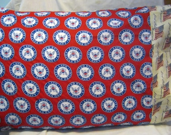 United States Navy NCIS  Military US Navy Patriotic Standard Pillow Case-Gift