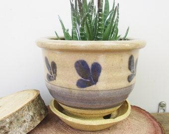 Vintage Pottery Bulb Succulent Attached Bowl With Hole Home Decor Planter Vintage Crockery Bulb Pot and Bowl Vintage Plant Display Pot Decor