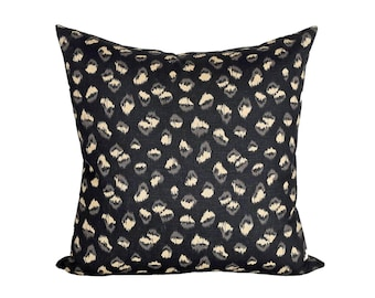 Feline Ebony/Beige designer pillow covers - Made to Order - Kelly Wearstler