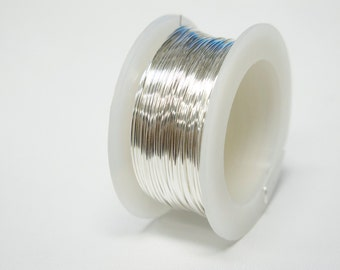 Silver Plated Artistic Wire 20g 6yd #45-0048