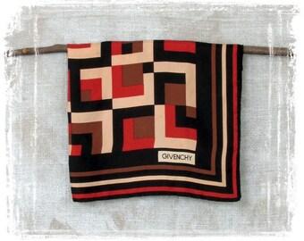 Vintage Givenchy Scarf, Designer Scarf, Square Scarf, Silk