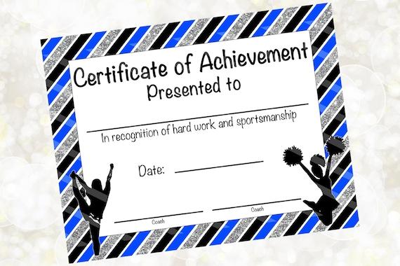 Cheerleading certificate cheerleading award cheerleading yelopaper Image collections