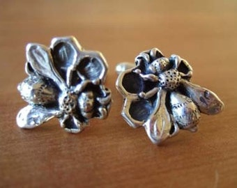 THE BUZZ - Honey Bee Cufflinks in Solid Sterling Silver