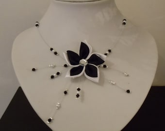 Necklace black and white wedding other colors possible