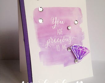 You're Precious to me Card, Gems Card, Classy Stationary, A2 (4.25*5.5) Love Card