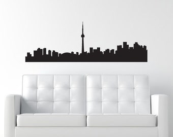 Toronto Canada Skyline Decal - Wall Decal - Ontario Canada Wall Decal - CN Tower - Matte Vinyl WAL-A113