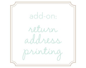 Add-on: Return Address Printing
