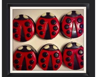 Ladybug party - Ladybug chocolate covered Oreos personalized favor, centerpiece or candy table, set of 12 ladybug candy