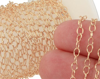 1 FT 3x4 mm 14K Gold Filled Cable Chain (GF1808) Price Per Foot