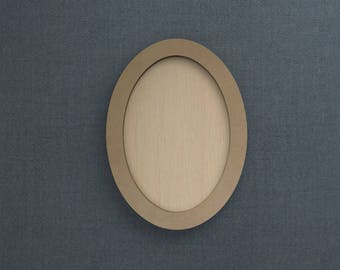 Frame Kit, Oval, Wood Frame, Picture Frame, DIY