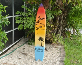 Unique Gift for mom. Tiki bar Decor. Family Oasis wood sign. Housewarming gift Idea. Beach House wooden gift. Its 5 O'clock somewhere.