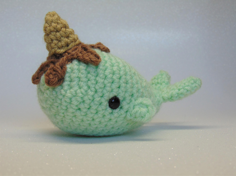 Mini Ice Cream Narwhal Amigurumi Pattern, Crochet Pattern, Amigurumi ...