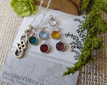 Celtic Infinity Knot Necklace Sterling with Swarovski Charm