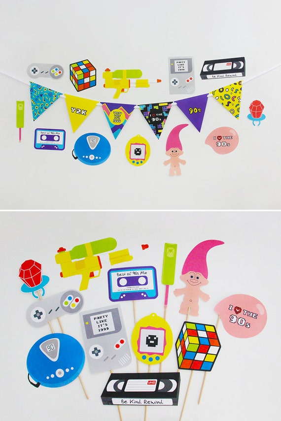 90s party decorations 90s party photo booth props 90s for 90 s party decoration ideas