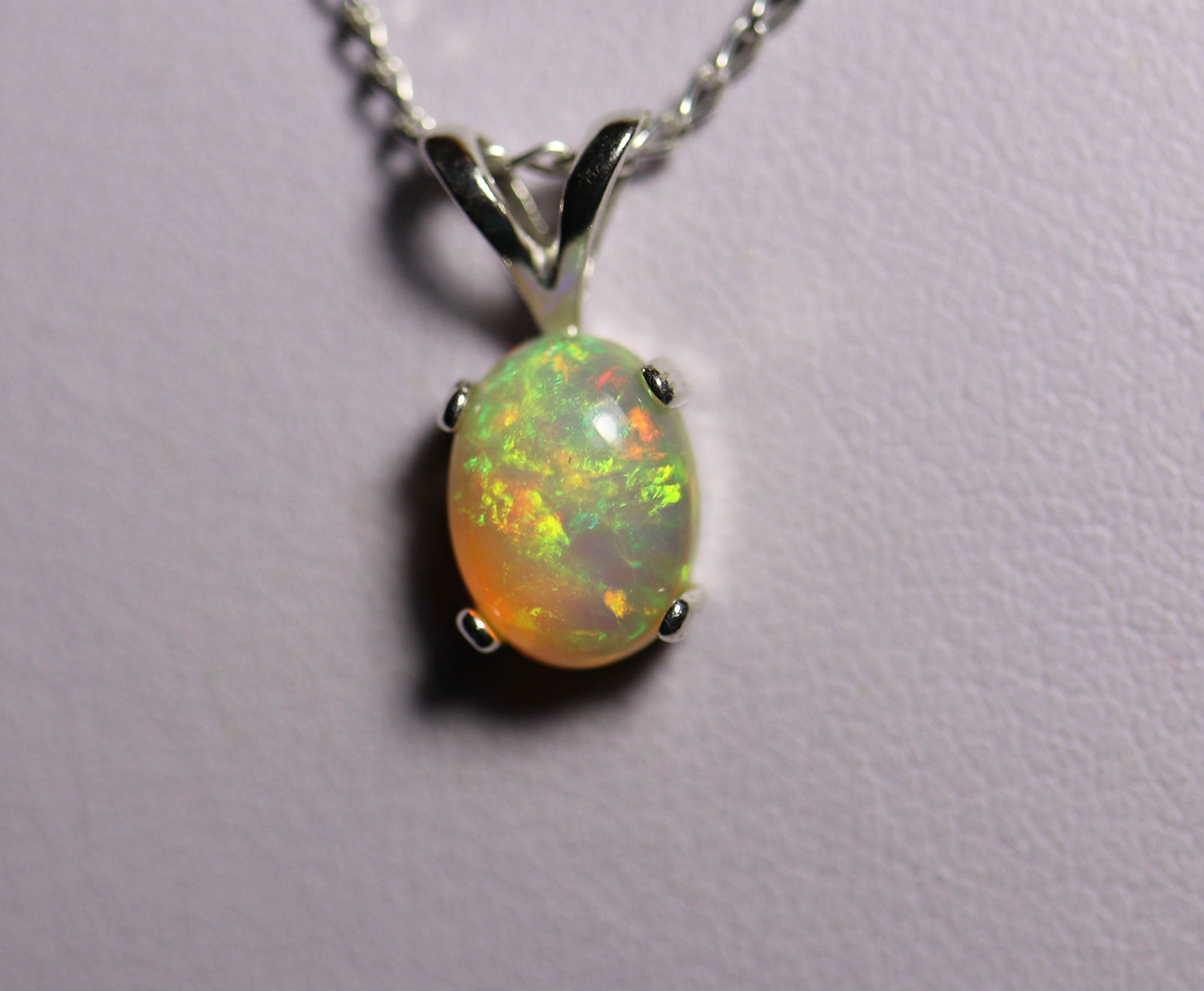 opal necklace blue without product fire silver pendant image chain products stingray sterling