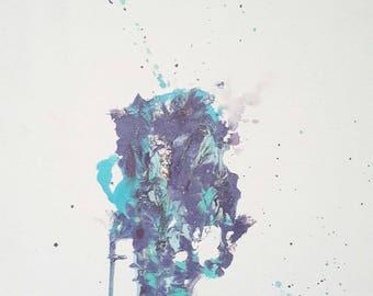 Acrylic Abstract painting on Canvas 12x16 in, Wall decor, Contemporary art, Original art, Modern art, Handmade painting, Home decor