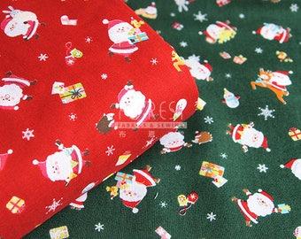 cotton Christmas Santa Claus HOHOHO fabric - 50cm