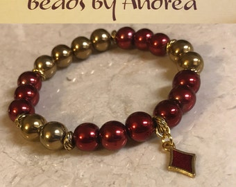 Fraternity Charm Collection - red and gold