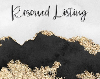 Reserved Listing for Custom Quoted Projects