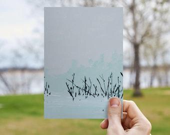Morning Green - ORIGINAL 5x7 Acrylic on Canvas Board