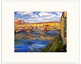 "Ponte Vecchio, Italy - 12""x18"" Artist's Print"