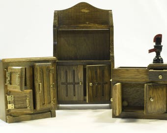 Miniature Vintage Kitchen Furniture
