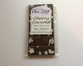 Coconut & Cherry Belgian Dark Chocolate Bar (VEGAN) (Dairy Free)