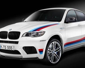 "BMW X6 vinyl graphics and decals kits ""BMW M Design Edition"""