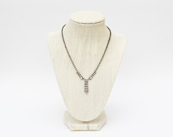 Rhinestone Necklace - Vintage 1970s Pave Rhinestone Necklace