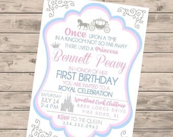 Princess Once Upon a Time Birthday Invitation DIGITAL