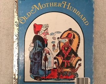 Vintage Old Mother Hubbard Little Golden Book