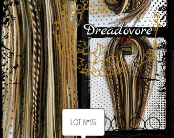 35 double rolled Dreads. Choice of length! Platinum, dark blonde and Brown. Dreadlocks, Dreadovore