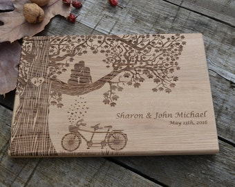 Gift for couple Housewarming gift  Bridal shower gift Wedding gifts Wooden cutting board Personalized Anniversary gift Custom wedding gift