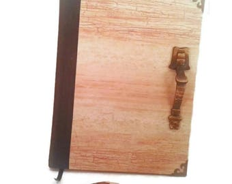 Old wood Door writing Journal-Extra Large -lined notebook, diary, hand bound, gift idea, gift for writers, gift for him, gift for her, brown