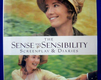 Book Sense And Sensibility Diaries By Emma Thompson 1995 Diary Of The Movie Filming Jane Austen